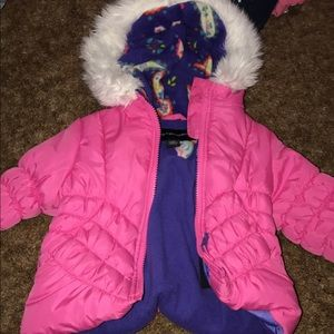 Pink and purple winter coat